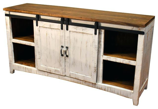 Most Popular White Rustic Tv Stands With Regard To Rustic Tv Stand With Barn Doors – Yourlegacy (View 12 of 20)