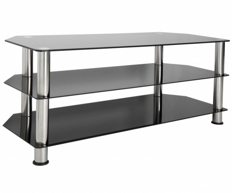 Most Recent Amazon: Avf Sdc1140 A Tv Stand For Up To 55 Inch Tvs, Black With Black Glass Tv Stands (View 13 of 20)