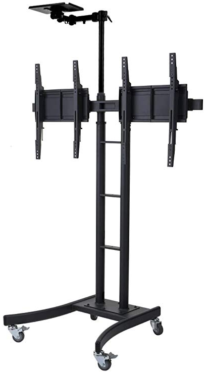 "Most Recent Amazon: Displays2go Dual Double Tv Stand For 24 70"" Hdtvs Within Dual Tv Stands (View 4 of 20)"