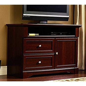 "Most Recent Amazon: Walker Edison 42"" Highboy Style Wood Tv Stand Console Regarding Light Cherry Tv Stands (View 15 of 20)"
