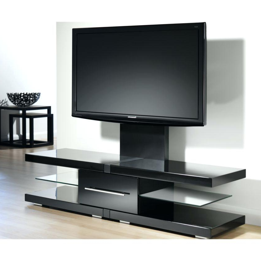 Most Recent Black Flat Screen Tv Stand M Modern Black Tone Wide Screen Stand Within Wide Screen Tv Stands (View 18 of 20)