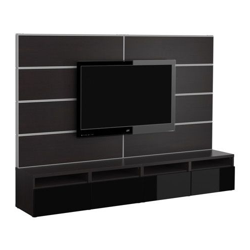 Most Recent Black Gloss Tv Wall Units Pertaining To Yes, We Did Some Ikea Bonding Yesterday (View 14 of 20)