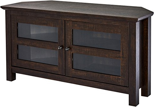 Most Recent Black Wood Corner Tv Stands Pertaining To Amazon: Rockpoint Adonia Wood Corner Tv Stand Media Console,  (View 14 of 20)