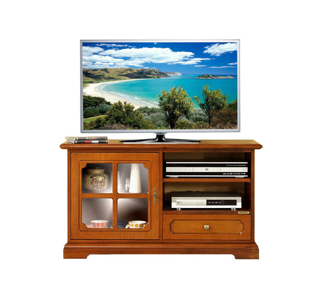 Most Recent Classic Wooden Tv Unit With Glass Door, Small Living Room Cabinet Inside Wooden Tv Cabinets With Glass Doors (View 6 of 20)
