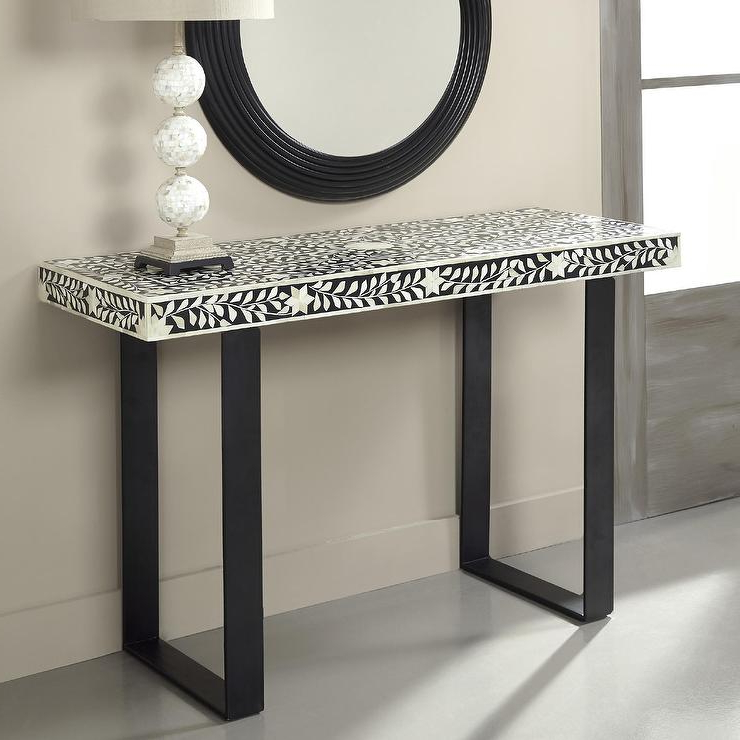 Most Recent Coast To Coast Imports Black And White Console Table Inside Black And White Inlay Console Tables (View 18 of 20)