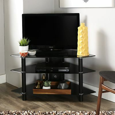 "Most Recent Cordoba Tv Stands For Brand New Walker Edison 44"" Cordoba Corner Tv Stand Console, Black (View 13 of 20)"