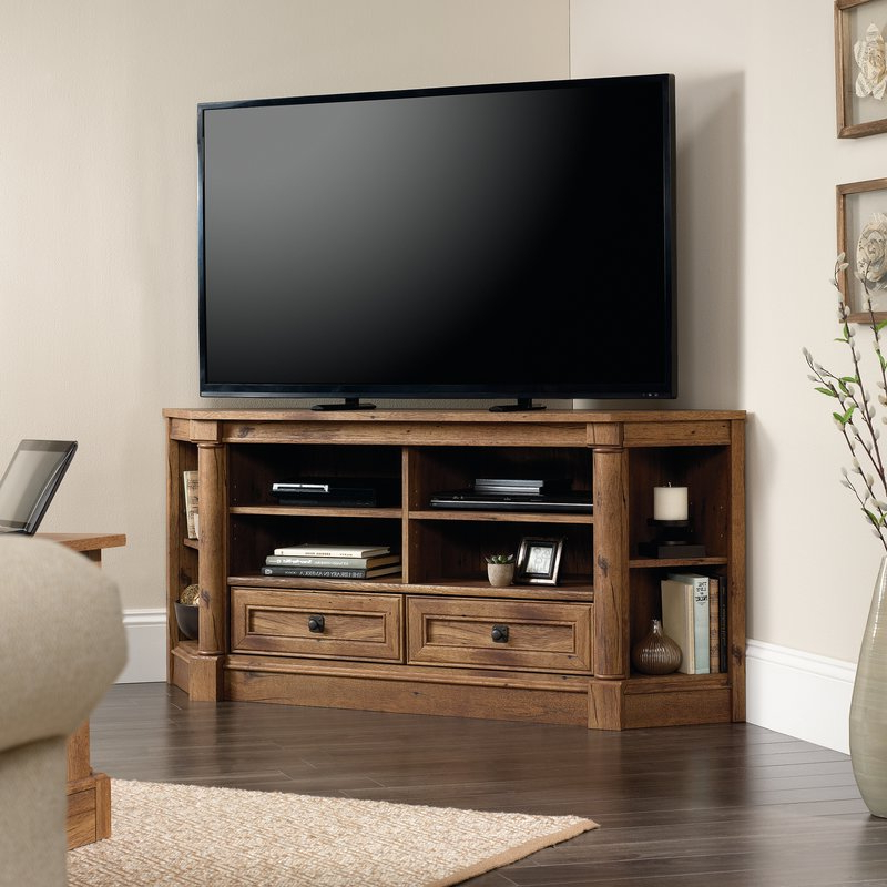 Most Recent Corner Tv Stands Inside How To Choose A Tv Stand Corner – Furnish Ideas (View 11 of 20)