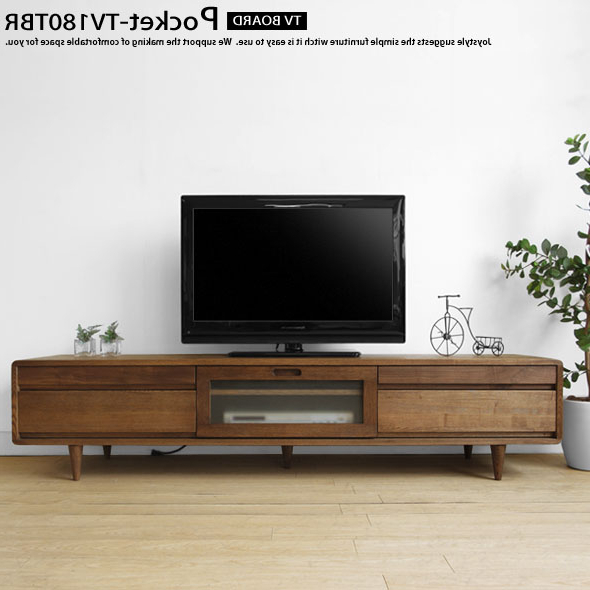Most Recent Dark Brown Corner Tv Stands Intended For Joystyle Interior: Width 180 Cm Ash Wood With Rounded Design With (View 13 of 20)