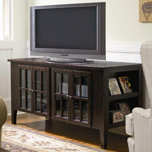 Most Recent Lauderdale 62 Inch Tv Stands In Paula Deen Home 62 Inch Entertainment Console With Framed Glass (View 14 of 20)