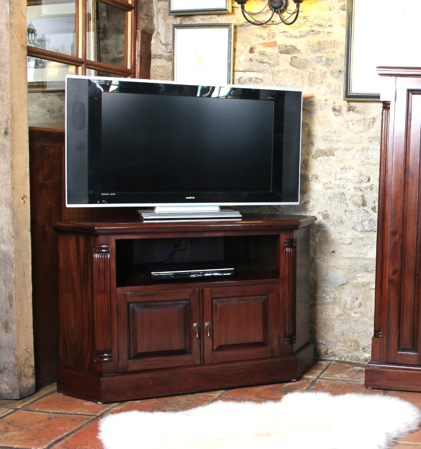 Most Recent Mahogany Corner Tv Cabinets In Georgian Corner Television Cabinet (View 20 of 20)