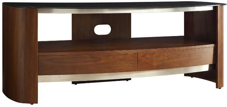 Most Recent Melbourne Curved Tv Stand Walnut Jf (View 15 of 20)