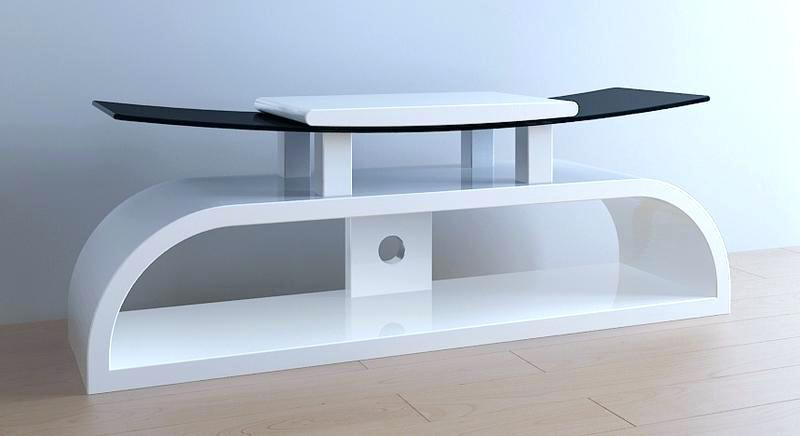 Most Recent Oval White Tv Stands Regarding White Tv Stand With Mount – Rlci (View 7 of 20)
