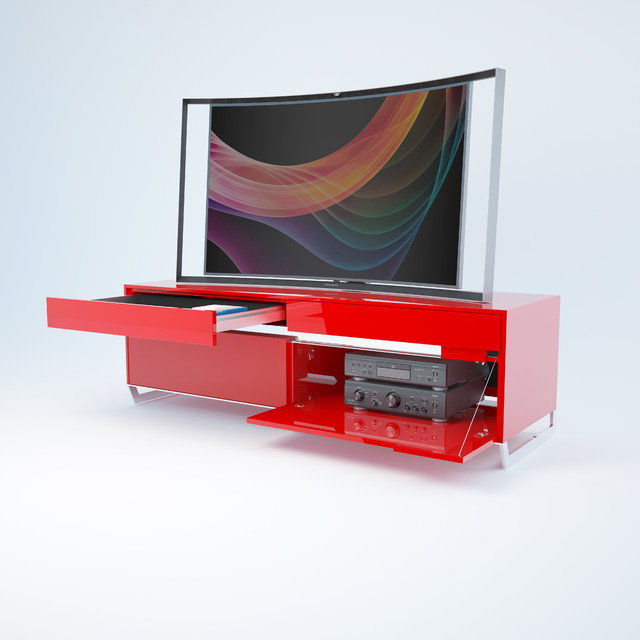 Most Recent Red Modern Tv Stand Eidos Red High Gloss Modern Tv Stands In Red Modern Tv Stands (Gallery 1 of 20)