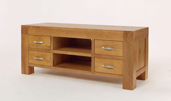 Most Recent Santana Oak Tv Furniture With Santana Blonde Oak Tv Unit – Oak Furniture Hub (View 6 of 20)