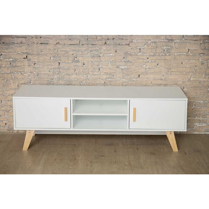 Most Recent Scandinavian Tv Stand With Built In Storage With Regard To Scandinavian Tv Stands (View 9 of 20)