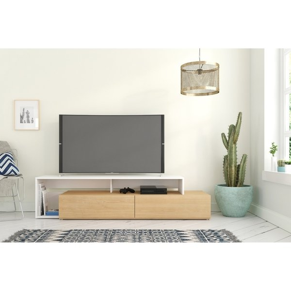 Most Recent Shop Nexera Tonik 72 Inch Tv Stand – Free Shipping Today – Overstock Within Rowan 45 Inch Tv Stands (View 11 of 20)