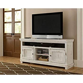Most Recent Sinclair White 54 Inch Tv Stands Pertaining To Amazon: Progressive Furniture P610E 64 Willow Console, 64 (Gallery 5 of 20)