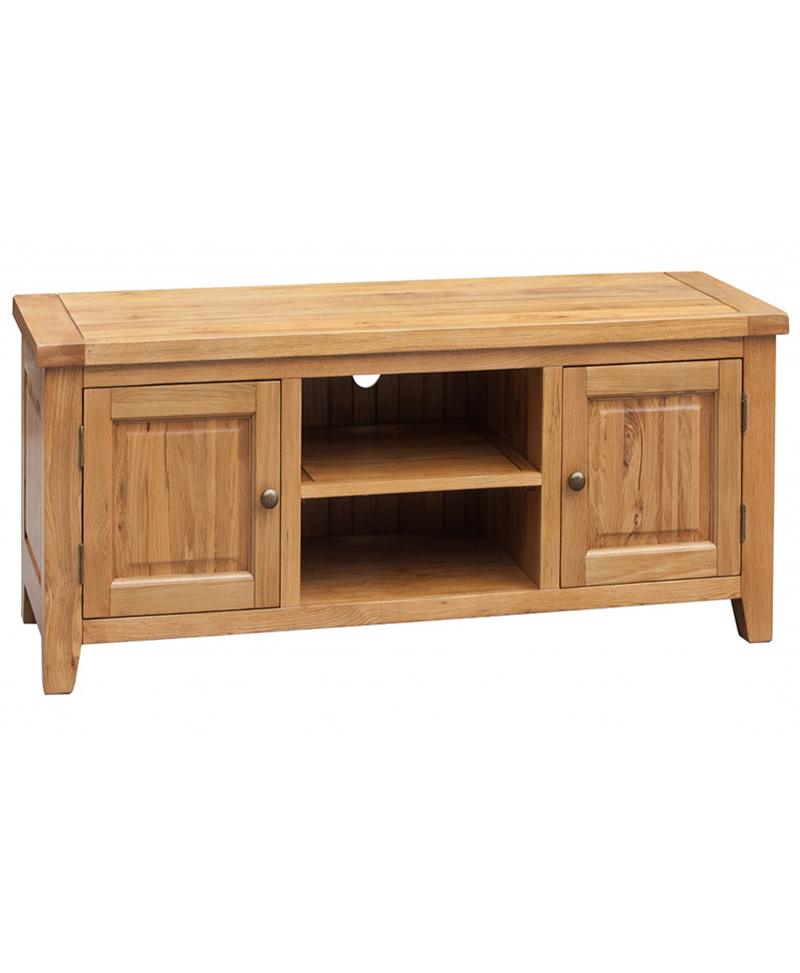 Most Recent Solid Oak Tv Cabinets For Acorn Oak Tv Unit – Straight (View 9 of 20)