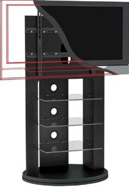 "Most Recent Sonax Tv Stands Regarding Sonax Zx 8680 Swivel Base Mounted Tv Stand For 37""  52"" Tv's, Swivel (Gallery 10 of 20)"