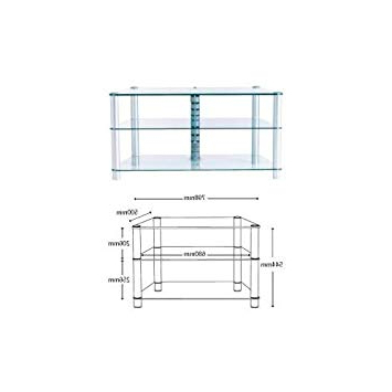 Most Recent Stil Stand Clear Glass Corner Tv Stand For Up To 32: Amazon.co (View 17 of 20)