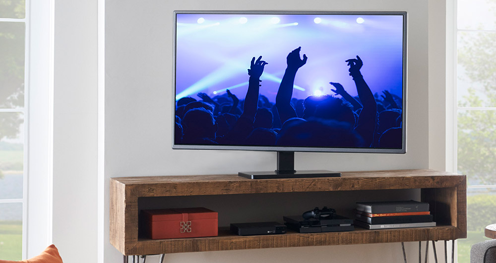 "Most Recent Swivel Tv Stands With Mount With Universal Swiveling Tv Stand For Tvs Up To 60"" – Echogear (View 9 of 20)"