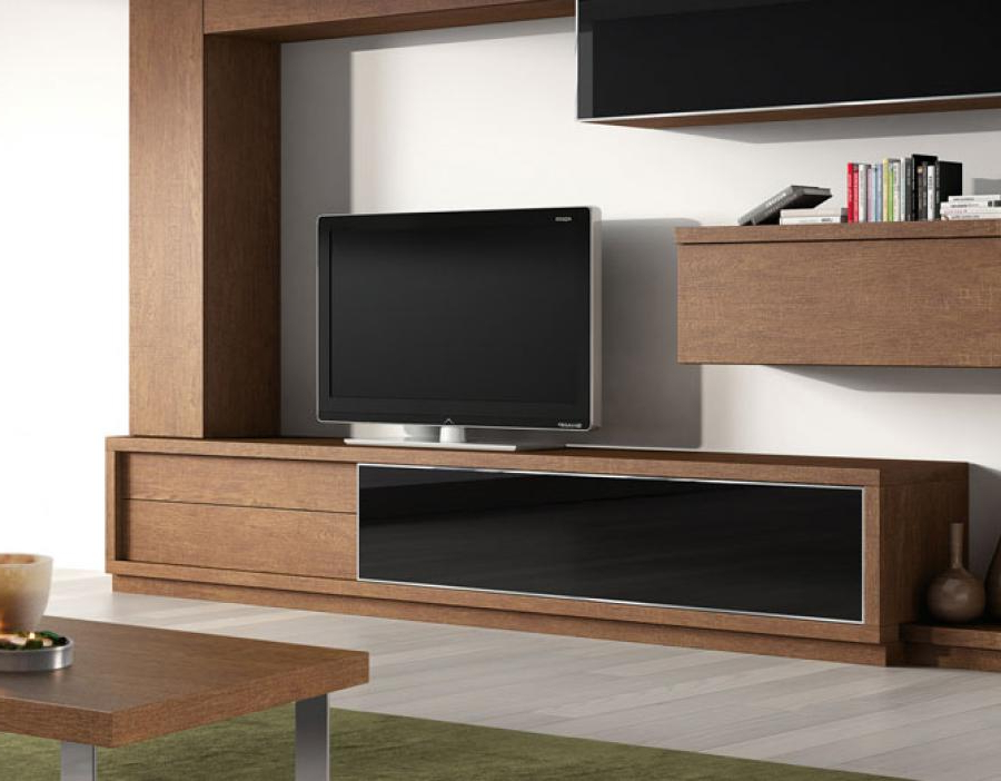 Most Recent Tv Drawer Units Pertaining To 2 Drawer And Glass Door Modern Tv Unitbaixmoduls (View 8 of 20)
