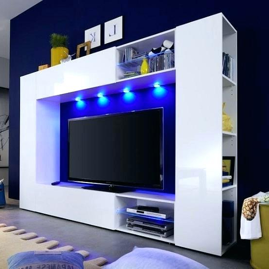Most Recent Tv Stands With Led Lights With Regard To Tv Stand With Lights Modern Entertainment Center Wall Unit With (View 7 of 20)