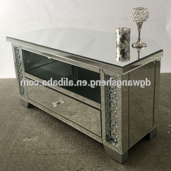 Most Recent Venetian Mirrored Glass Floating Crystal Widescreen Corner Tv Unit In Floating Glass Tv Stands (View 16 of 20)