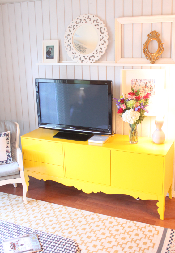 Most Recent Yellow Tv Stands Intended For With Paint You Could Turn A Old Wood Tv Unit Into A Bright Modern Tv (View 16 of 20)
