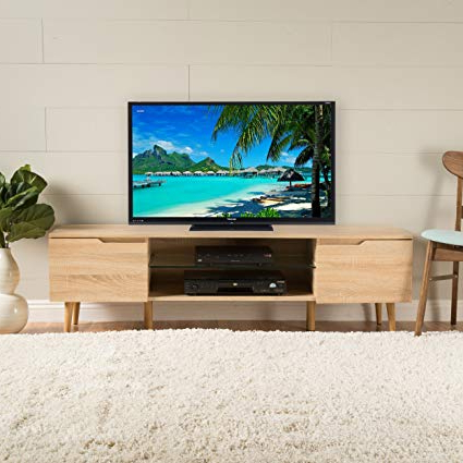Most Recently Released Amazon: Christopher Knight Home 299077 Rowan Tv Stand, Oak Inside Rowan 64 Inch Tv Stands (View 10 of 20)