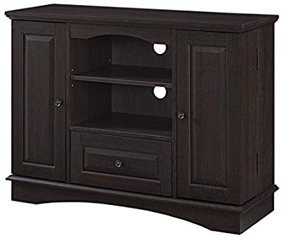 "Most Recently Released Amazon: We Furniture 70"" Espresso Wood Tv Stand Console: Kitchen With Maddy 70 Inch Tv Stands (View 15 of 20)"