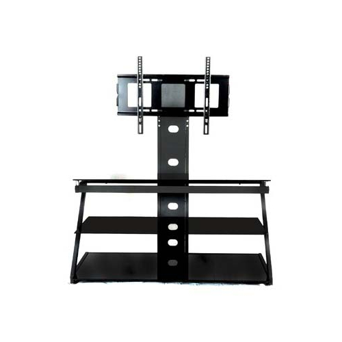 Most Recently Released Black Glass Tv Stands Pertaining To Rta Tier One Designs 60 Black Glass Tv Stand With Tv Mount Black T1D  (View 15 of 20)