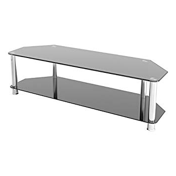 """Most Recently Released Black Glass Tv Stands Within King Universal Black Glass Tv Stand 140cm Suitable Up To 65"""" Inch (View 5 of 20)"""