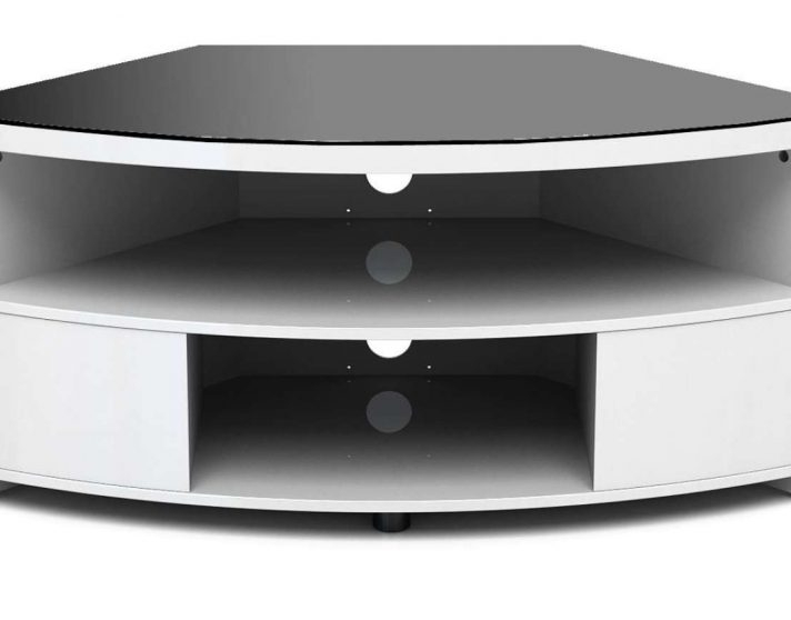 Most Recently Released Black Gloss Corner Tv Stand Regarding High Corner Tv Stand White Gloss Cabinet Quality Stands Black (View 5 of 20)