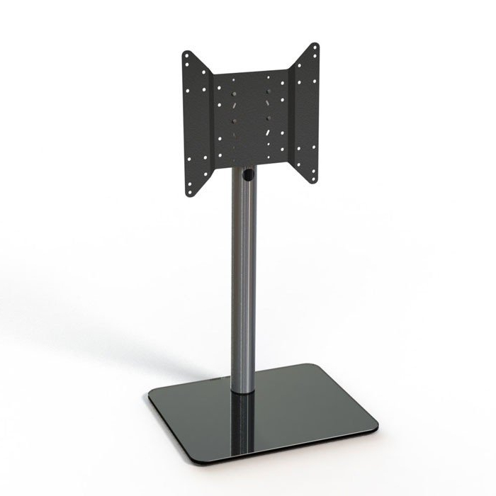 Most Recently Released Cheap Cantilever Tv Stands Intended For Just Racks Tv600 Bg Black Glass And Aluminium Cantilever Tv Stand (View 11 of 20)