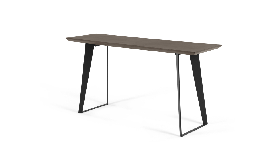 Most Recently Released Concrete Top Console Table Phenomenal Parsons Dark Steel Base 48X16 With Parsons Concrete Top & Elm Base 48X16 Console Tables (Gallery 11 of 20)