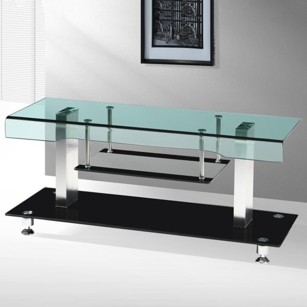 Most Recently Released Contemporary Glass Tv Stands With Regard To Shop Best Quality Furniture 48 Inch Modern Glass Top Tv Stand – Free (Gallery 19 of 20)