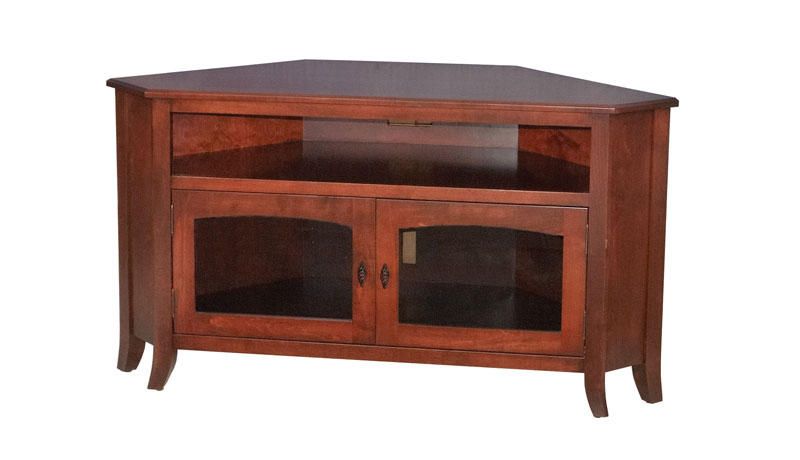 Most Recently Released Corner Tv Stands – Ohio Hardwood & Upholstered Furniture Throughout Corner Wooden Tv Stands (Gallery 10 of 20)