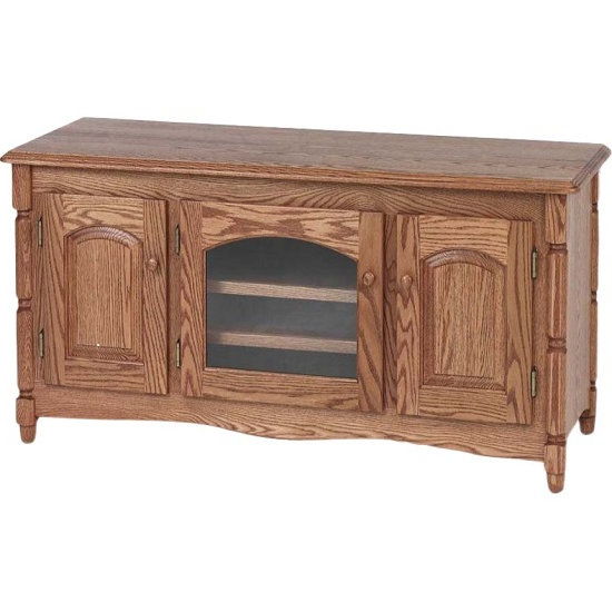 """Most Recently Released Country Style Solid Oak Tv Stand W/cabinet – 51"""" – The Oak Furniture With Regard To Oak Tv Cabinets For Flat Screens (View 15 of 20)"""
