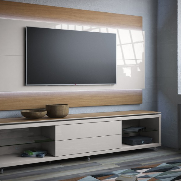 Most Recently Released Cream Gloss Tv Stands Intended For Mc Lincoln (View 18 of 20)