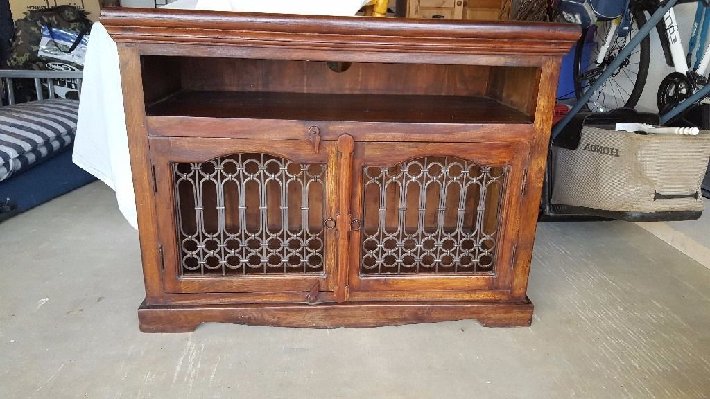 Most Recently Released Dark Wood Jali Tv Cabinet/unit (View 14 of 20)