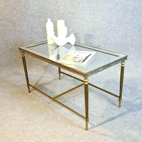 Most Recently Released Elke Marble Console Tables With Brass Base Inside Slab Marble Coffee Table With Brass Base Image 0 Vintage Swan (View 8 of 20)