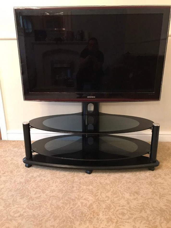 Most Recently Released Floating Glass Tv Stands With Regard To Kross 3 Shelf Glass Tv Stand Floating With Mount 2 For Sale (View 17 of 20)