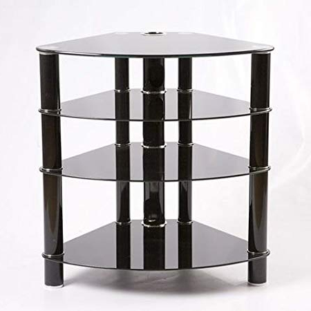 Most Recently Released Iconic Tv Stands Inside Iconic Tv Stand Tx8000 Black Glass Unit Designer: Amazon.co (View 12 of 20)