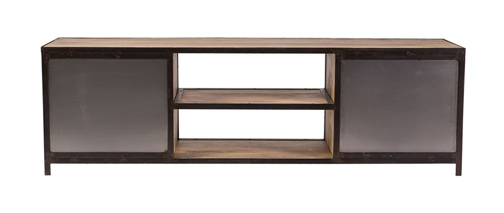 Most Recently Released Industria Industrial Style Tv Stand 178Cm – Miliboo With Industrial Style Tv Stands (Gallery 6 of 20)