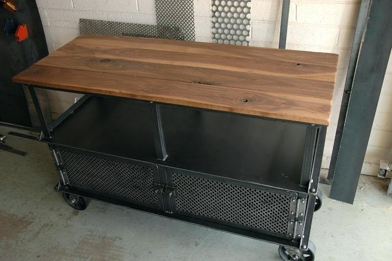 Most Recently Released Industrial Tv Stand With Wheels Vintage Industrial Stand Inside Vintage Industrial Tv Stands (Gallery 4 of 20)