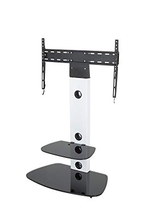 Most Recently Released King Cantilever Tv Stand With Bracket Satin White: Amazon.co (View 9 of 20)