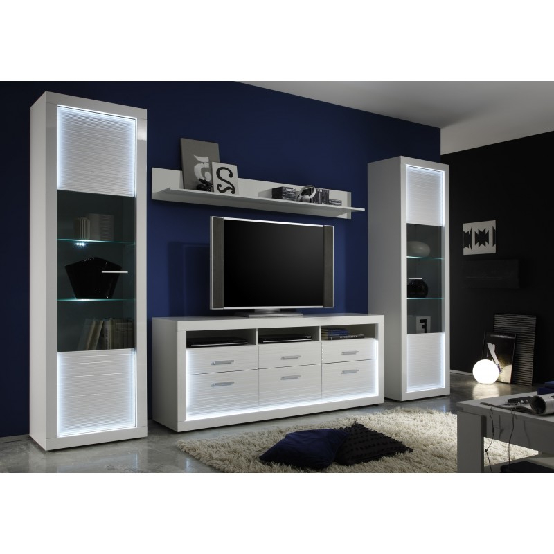 Most Recently Released Large Tv Cabinets Pertaining To Iluminati I – Large Gloss Tv Unit With Led Lights – Tv Stands ( (View 12 of 20)
