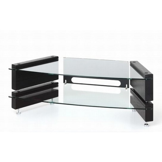 Most Recently Released Low Corner Tv Stands Throughout Low 2 Shelf Corner Tv Stand Milan Lcd Cnr 2 – Big Av (View 16 of 20)