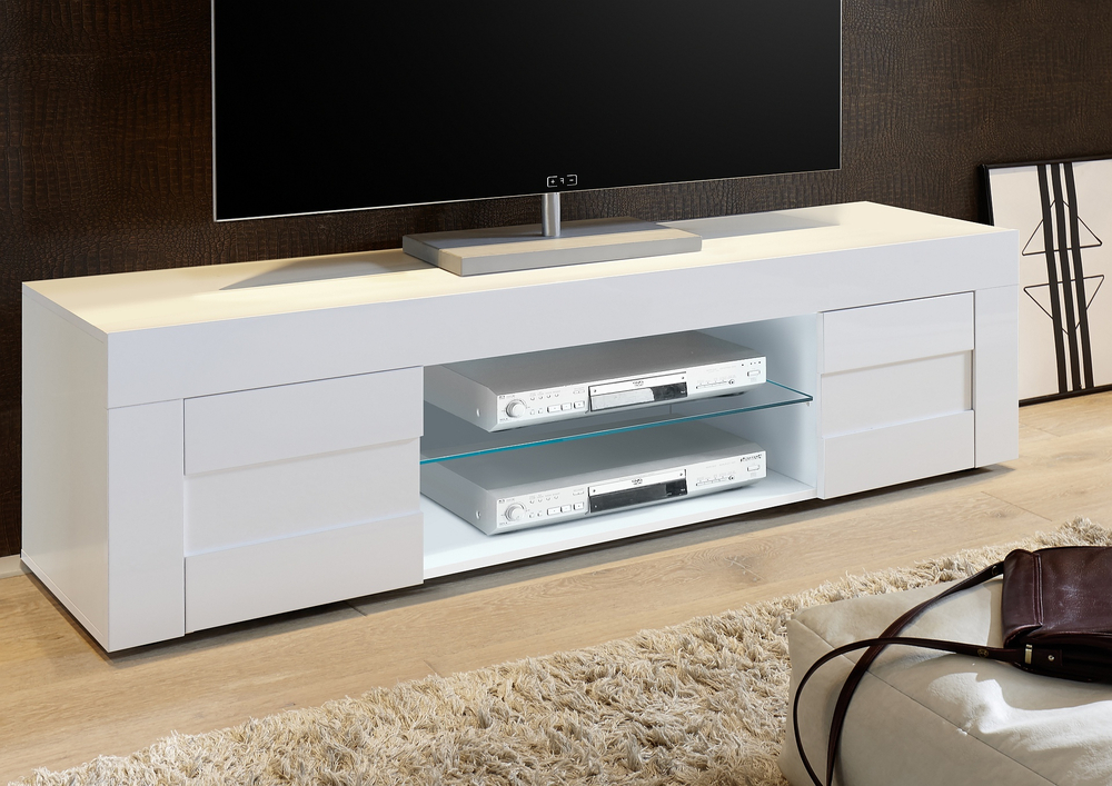 Most Recently Released Napoli Large Tv Stand Gloss White (View 10 of 20)